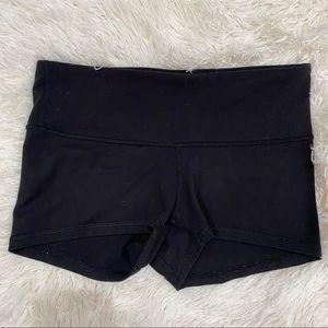 Lululemon black low rise booty shorts
